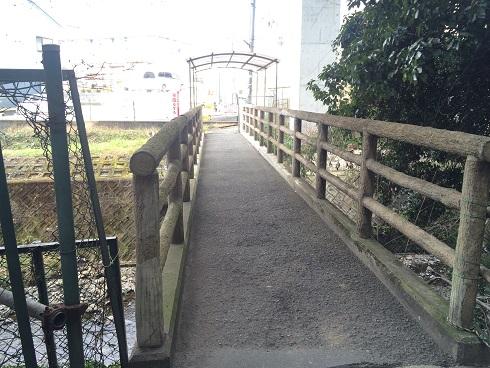 橋をわたって